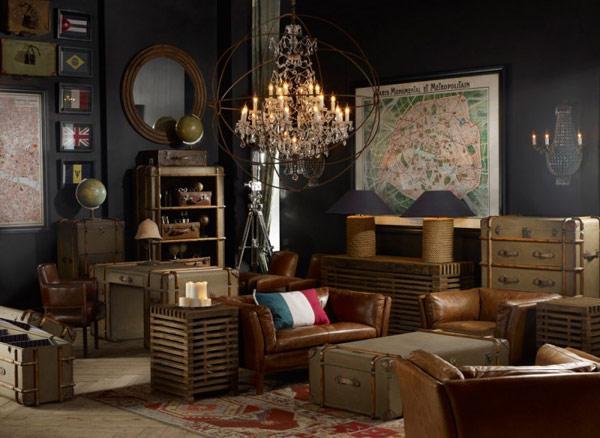 Salones vintage al mas puro estilo americano paperblog for Living room antique and modern