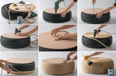 Reciclar y decorar con neum ticos paperblog - Reciclaje jardineria y decoracion ...