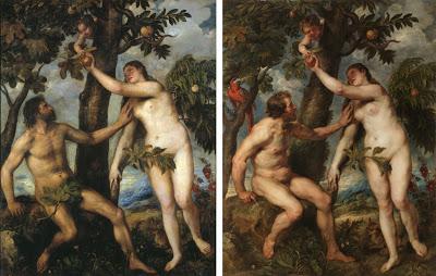 Las siete diferencias entre Tiziano y Rubens