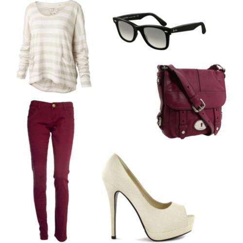 Outfits Gris Con Rojo