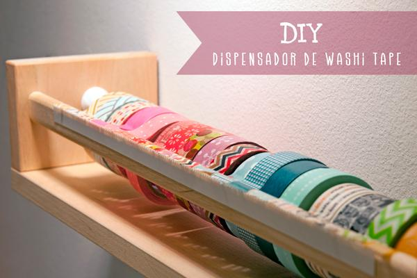 DIY Antes y Después '13: Dispensador de Washi tape de Lanukas