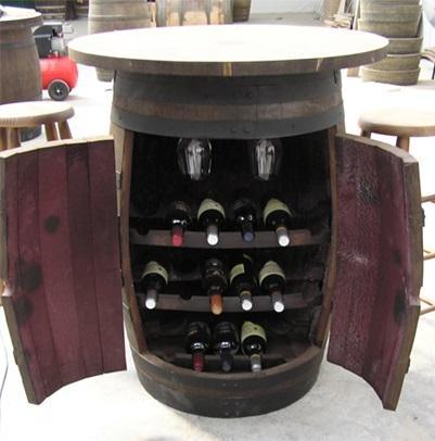 11 ideas y una m s para reciclar un barril paperblog - Botelleros de madera rusticos ...