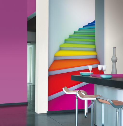 Deco laminas de pared coloridas paperblog for Laminas gigantes para pared