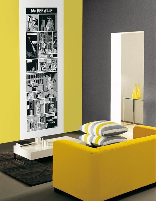 Deco laminas de pared coloridas paperblog - Laminas para paredes ...