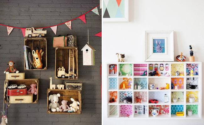 C mo decorar una habitaci n infantil paperblog - Estanterias pequenas de madera ...