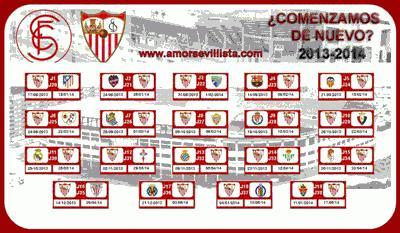 Calendario Sevilla.Calendario De Liga Del Sevilla F C En Tu Escritorio Paperblog