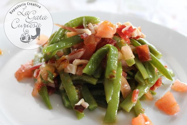Ensalada de judias verdes con jamon paperblog - Como preparar las judias verdes ...