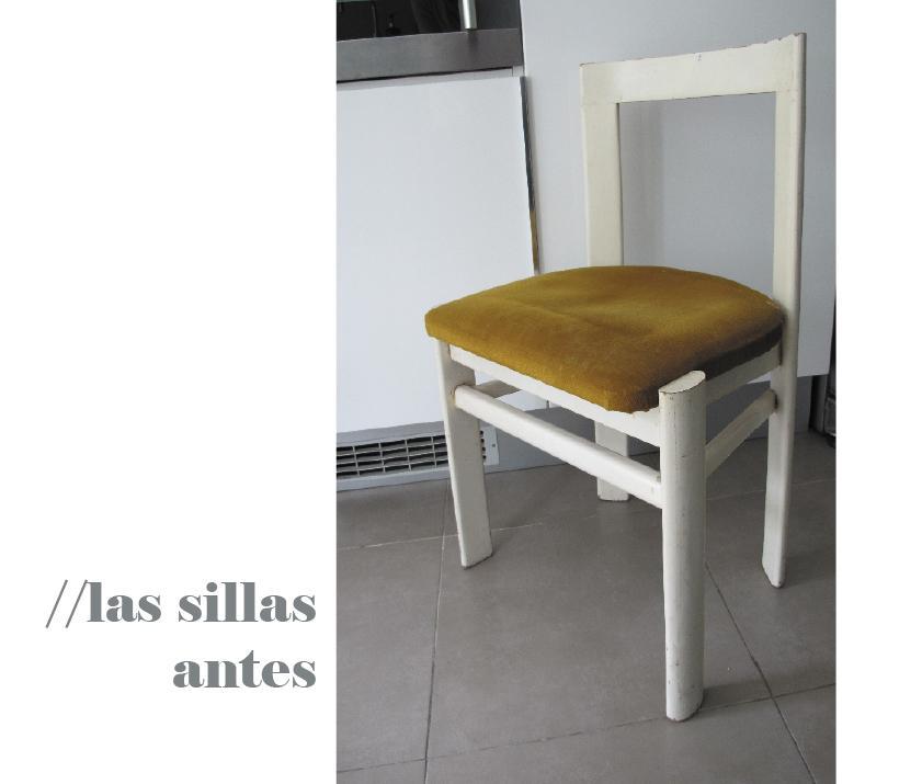 Antes y después: viejas-nuevas sillas para la cocina