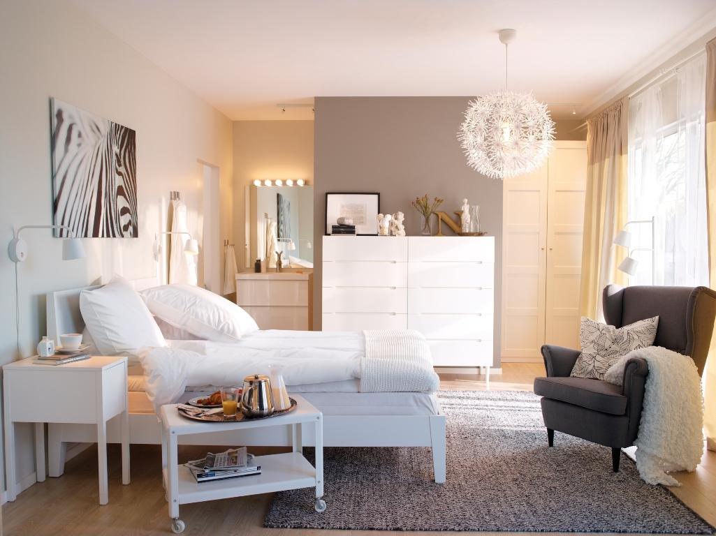 Chambre blanc bois: idees deco chambre coucher couleurs naturelles ...