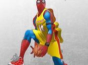Spiderman gusta basketball