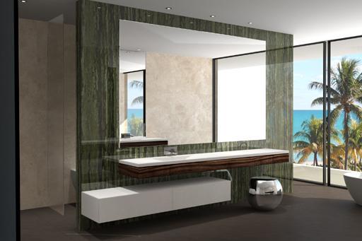 Dise os de cuartos de ba o para la vivienda proyectada por for Dormitorios con espejos grandes