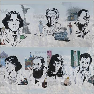 Oscar Wilde, Agatha Christie, Richard Wright, Virginia Woolf, Dostoyevski, Sylvia Plath y Tennesse Willians