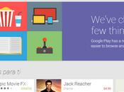 nueva interfaz Google Play Android desde también