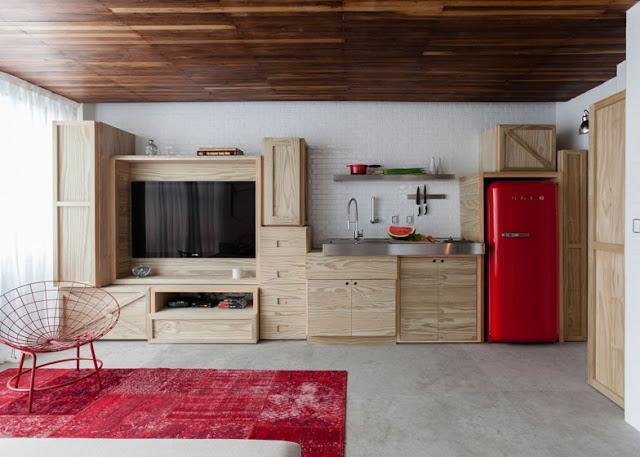 Dise o sorprendente en este mini apartamento paperblog - Mini apartamentos ...