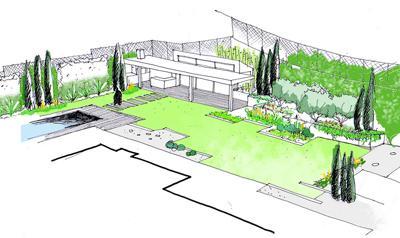 Dise o de jardines proceso ii croquis y dibujos paperblog for Dibujos de jardines