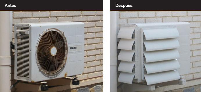Ocultar los aparatos de aire acondicionado paperblog - Como camuflar cables ...