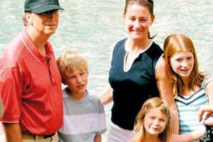 bill gates en familia