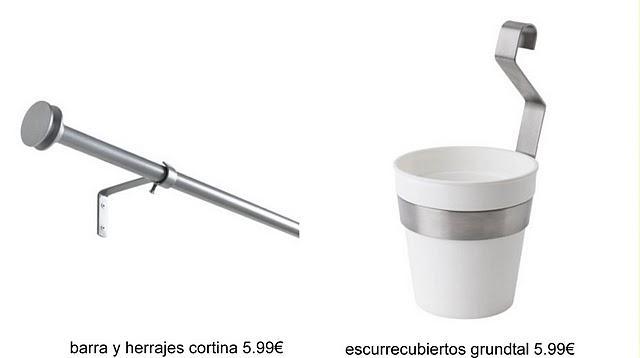 Ikea hack: barra de cortina y escurrecubiertos para las macetas ...