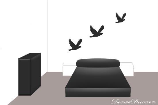 cabecero de cama creado con pintura