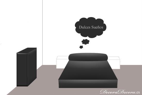 decorar el cabecero de la cama con pintura, motivos y figuras
