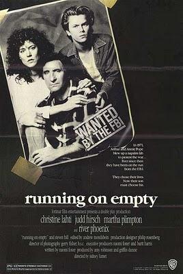Familia rodante, sobre Running on Empty, de Sidney Lumet