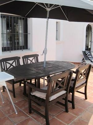 antes y despus la mesa y los sillones de exterior