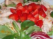 Ensalada pollo fresas