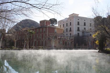 Balneario Termas Pallarés Lago termasl Alhama de Aragón. Galería fotográfica semanal de el vuelo del buitre