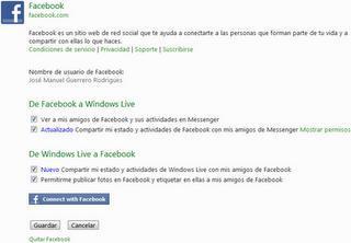 Cambios en el perfil de Messenger de Windows Live