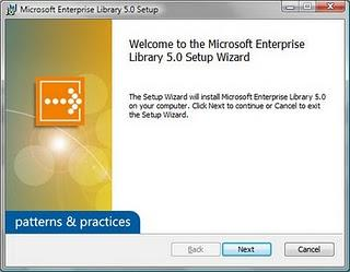 Disponible Microsoft Enterprise Library 5.0