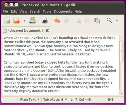La nueva fuente de Ubuntu  [BETA]