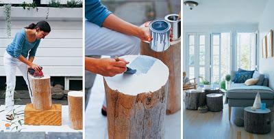 DIY decorar con troncos de madera Paperblog