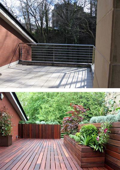 Dise o de jardines fotos del antes y despu s paperblog - Diseno de terrazas aticos ...