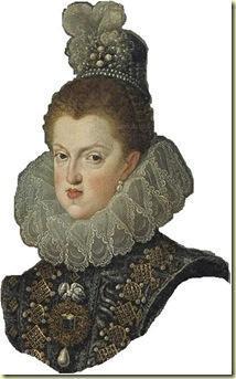 Margarita de Austria con la Perla Peregrina retratada por Velázquez