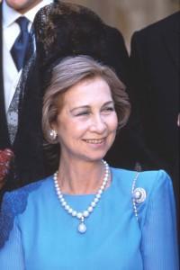 La Reina Sofía con la Perla Peregrina