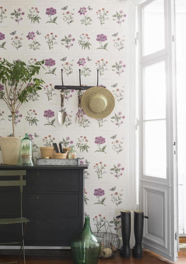 Papel pintado con flores de botanica paperblog - Papel empapelar paredes ...