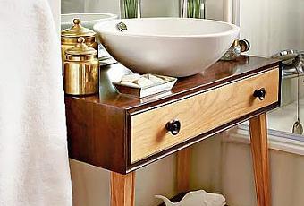 Reciclar una comoda como mueble de ba o paperblog for Comoda mueble