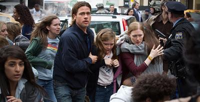 'Guerra mundial Z', zombis blancos para un correcto entretenimiento mainstream