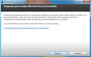 Windows 7 2013 08 02 16 57 23 300x188 Microsoft Security Essentials: Completa Suite de Seguridad para tu PC
