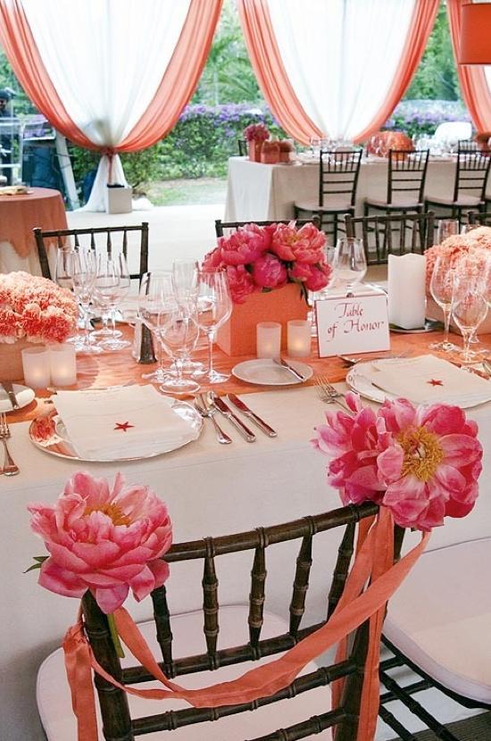 decoracion en color coral