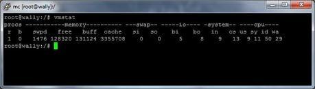 Vmstat comando que nos permite obtener un detalle general de los procesos del CPU.
