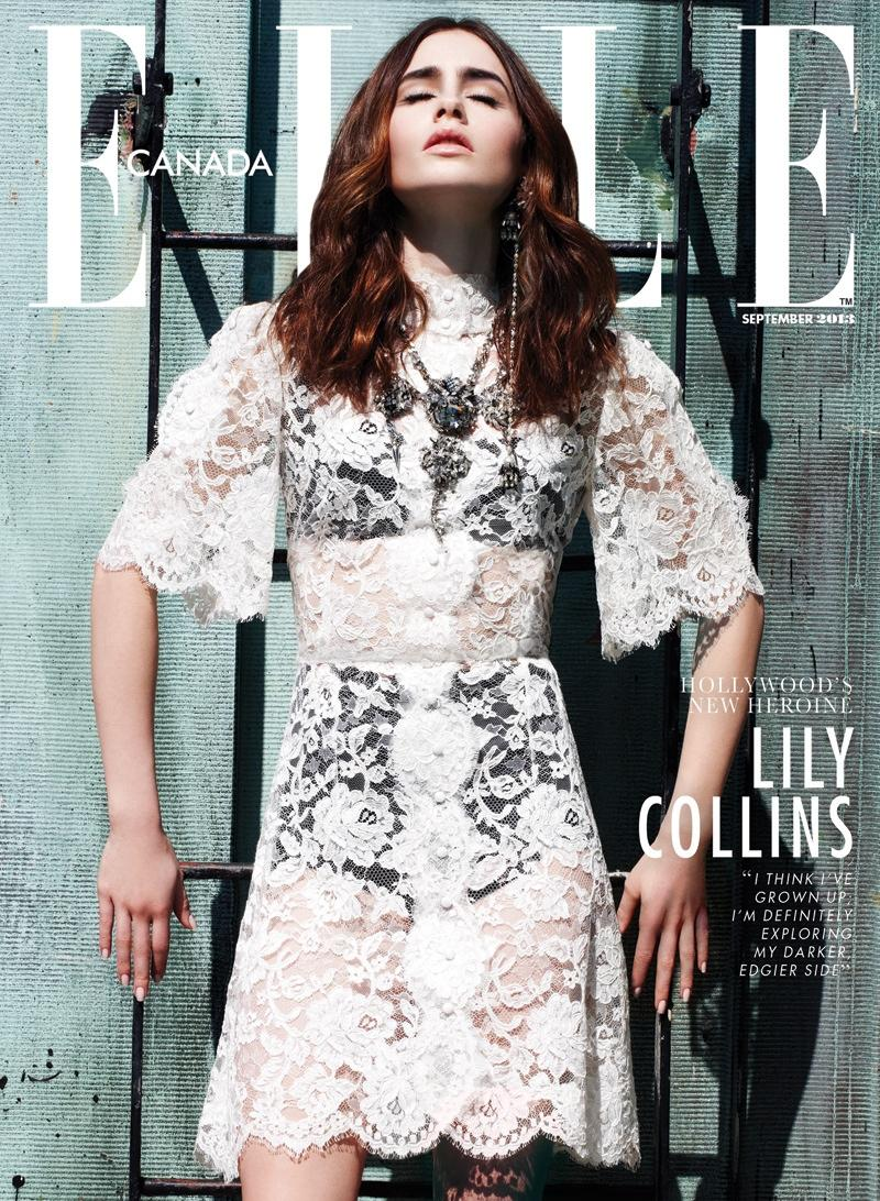 » Lily Collins - Elle Canada September 2013