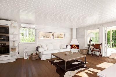 Casa rustica de madera en suecia paperblog - Casas de madera blancas ...
