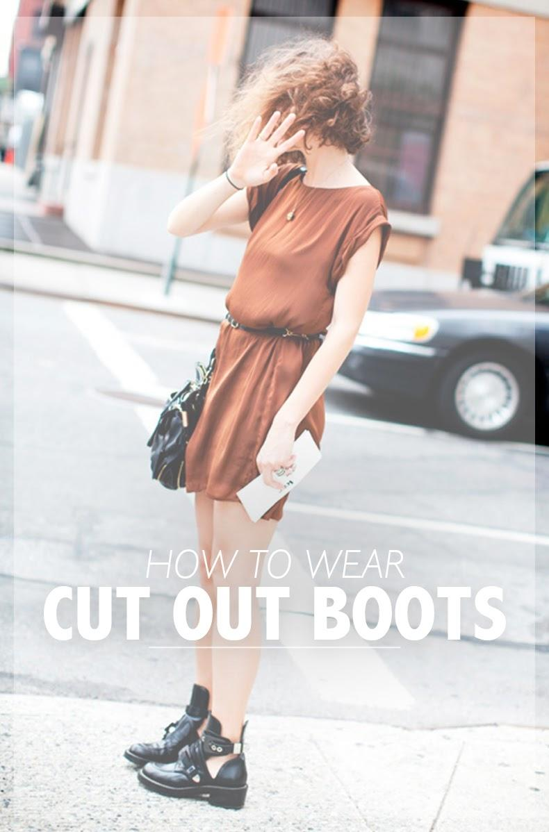 How to wear: cut out boots