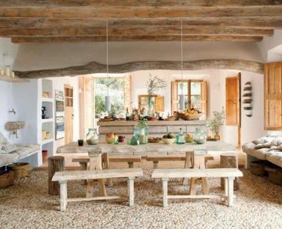 Mesas de comedor en comedores rusticos   paperblog