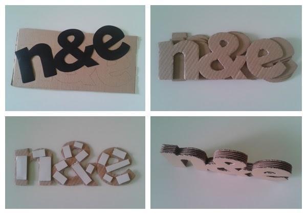 C mo hacer letras decorativas con cart n paperblog - Como hacer letras decorativas ...