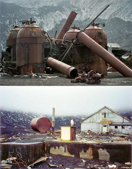 7 impresionantes lugares abandonados en la Antártida.