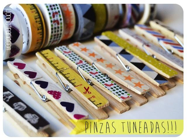 Pinzas con washi tape paperblog - Decorar con washi tape ...