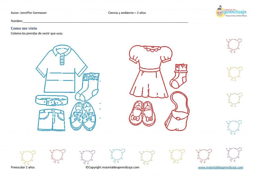 eb902f510 Personal social 2 años: prendas de vestir - Paperblog