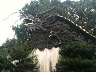 Muro de los cinco dragones del jard n yuyuan shanghai for El jardin de los dragones